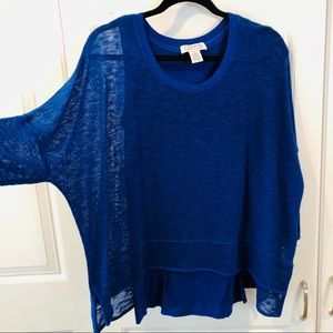 Beautiful blue Carina top size Small
